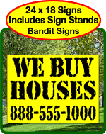 Bandit Signs, We Buy Houses