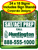 Corporate Yard Sign Designs.