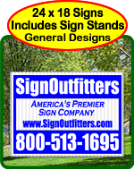 Cheap Yard Signs - Effective Designs