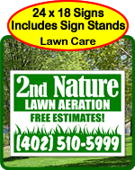 One Click Kits - Lawn Care Signs and Lawn Maintenance Signs