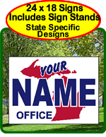 State Specific Political Yard Signs