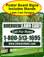 One Click Kits - Lawn Care Poster Board Signs