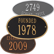 Oval Style Personalized Address Plaques
