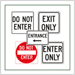 Enter Signs and Exit Signs