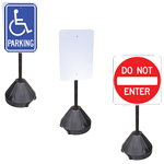 Portable Pole for Parking Signs