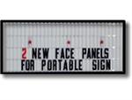 Replacement Sign Faces for Portable Signs