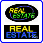 Real Estate Neon Signs and LED Signs