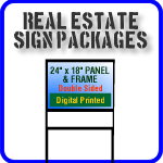 Real Estate Signs and Frame Packages