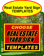 Real Estate Yard Sign Templates