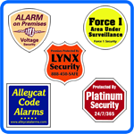 Security Company Decals.