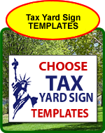 Tax Yard Sign Templates