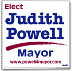 Large plastic yard signs 48 x 48, great as a political sign.