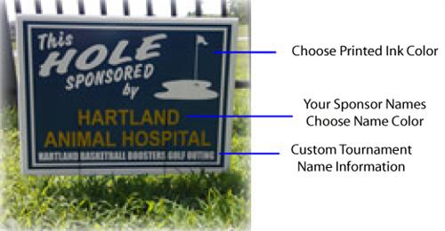 Customize you golf hole sponsor signs.