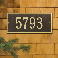 Hartford Standard Address Plaque Wall Sign One Line
