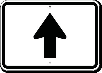 Information Arrow Sign Straight Ahead 21 X 15
