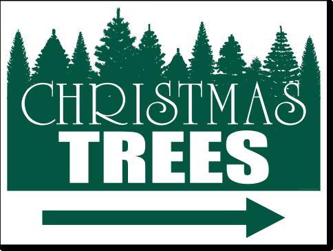 Christmas Arrow Png.Christmas Trees With Arrow 24 X 18 Yard Sign