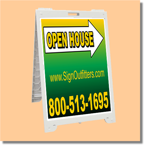 Econo Classic Portable A-Frame Sign with your custom artwork.