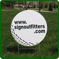 Golf Hole Sponsor Sign Small Golf Ball