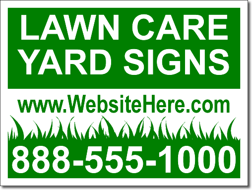 Lawn Care Yard Signs 100 Signs And Stakes