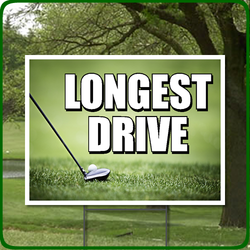 Golf Outing Longest Drive Full Color Sign