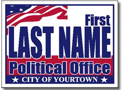 Cheap Campaign Yard Sign Design Patriotic American Theme