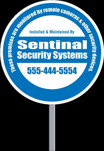 Security Yard Signs Circle Shape