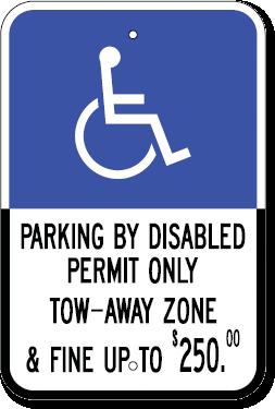 Florida Handicapped Parking Sign