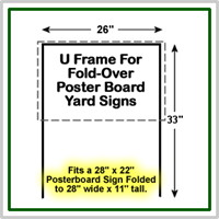 U-Frame Sign Wires for 28'' x 11'' yard signs.