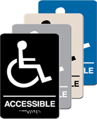 ADA Signage - Accessible Braile Sign - 6'' x 9''