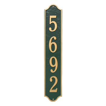 Admiral Vertical Wall Plaque - Estate - Green / Gold