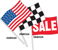 Antenna Flags - USA, Checkered, SALE in Supreme Cloth