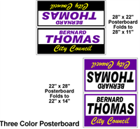 Budget Poster Board Yard Sign - Three Color
