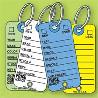 Color Coded Stock Key Tags (500 per box)