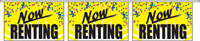 Now Renting Pennant String - Confetti Style