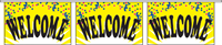 Welcome Pennant String - Confetti Style
