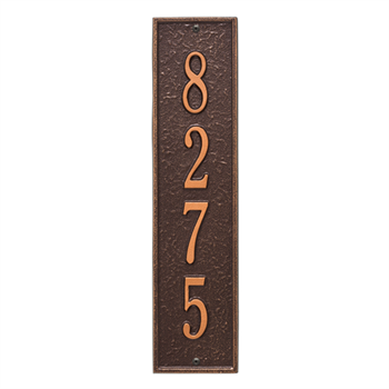 Delaware Vertical Wall Plaque - Standard - Antique Copper