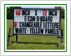 E-Con-O Board Portable Roadside Sign (40 inch x 72 inch Sign Face)