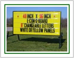 E Con O Board Portable Roadside Sign 48 Inch X 96 Inch