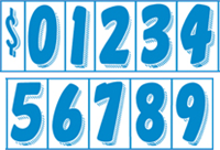 Blue and White Windshield Numbering Kits for Auto Dealers