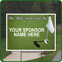 Full color golf outing signs.  Add your sponsor name and/or logo.