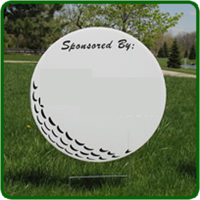 Golf Hole Sponsor Sign - Large Golf Ball - Blank