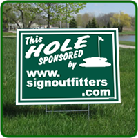 Golf Hole Sponsor Sign