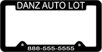 License Plate Frame #493 - Black