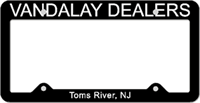License Plate Frame #498 - Black