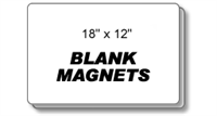 Magnetic Car Sign Blanks - 18'' x 12