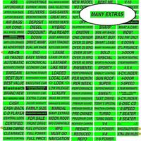 Fluorescent Chartreuse Windshield Decal - Many Extras (12 Pack)