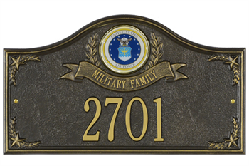 Air Force Address Plaque - Military Family - 1 Line