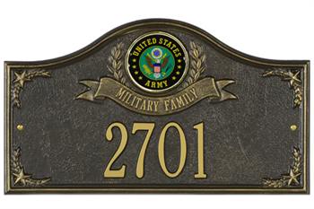 Army Address Plaque - Military Family - 1 Line