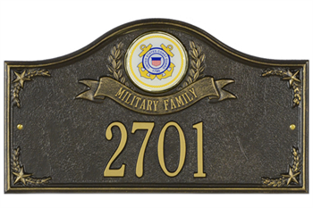 Coast Guard Address Plaque - Military Family - 1 Line