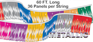 Mirror-Brite Starburst Metallic Pennant String - 60 ft Long